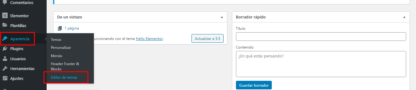 acceder archivo functions.php